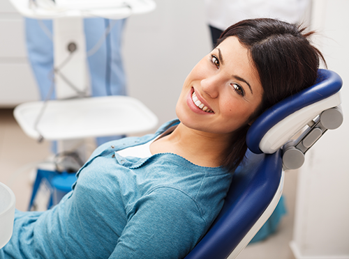 Dental Patient In Office Chair